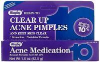 Rugby Max Strength 10% Benzoyl Peroxide Acne Medication 42.5g (1.5 oz)