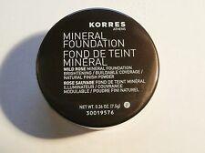 Korres  Mineral Foundation Wild Rose Natural Finish Fairly Light  Powder