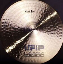 "ufip class series 21"" crash ride cymbal free worldwide shipping"