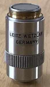 VINTAGE LEITZ WETZLAR NPL FLOUTAR 10x 0.30 MICROSCOPE OBJECTIVE