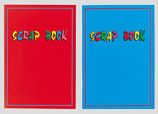 Kids Scrapbook Set of 2 A4 Size Laminated Covers Scrap Book Art Craft Blue & Red