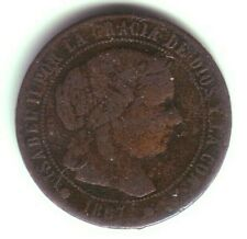 Devise 1/2 Centime D'Escudo Isabelle II - Année 1867 Om - Barcelone