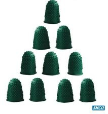 12 RUBBER THIMBLETTES Quality Finger Cone Thimble GREEN SIZE 0 SMALL By SMCO
