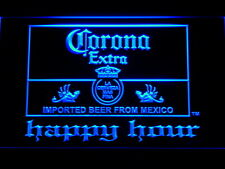Corona Extra Beer Happy Hour Bar LED Neon Light Sign Man Cave 611-B