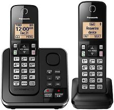 Panasonic KX-TGC362B Cordless 2 Handset Landline Telephone w/ Answering Machine