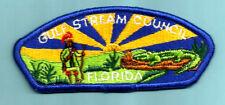GULF STREAM S-2 ERROR Issue, Vintage FL Boy Scout Council patch pln back Florida