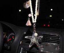 Starfish Crystal Car Mirror Pendant Interior Jewelry Decor Hanging Ornament