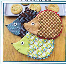 PATTERN - Hedge Fun, Hedgehog Hot Pads - cute kitchen PATTERN - Susie Shore