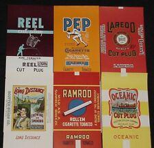 6 Different Unused Vintage Tobacco Package Labels Scotten Dillon Co. Detroit,Mi.