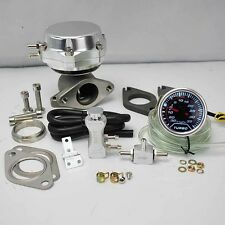 "SILVER WASTEGATE 8+6 PSI +BOOST CONTROLLER 30PSI +2"" DIGITAL 35PSI BOOST GAUGE"