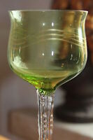 Antikes Jugendstil Weinglas um 1900/H. Christiansen /Seltenes Glas