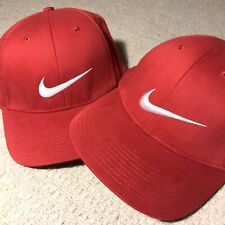 Vintage Nike Swoosh Fitted Baseball Cap Red White Olympiacos