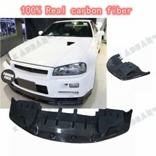 1pc CARBON OE FRONT BUMPER BOTTOM LIP WITH UNDERTRAY FOR NISSAN SKYLINE R34 GTR