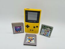 Nintendo Game Boy Color Handheld-Spielkonsole - Gelb + 3 Gameboy Spiele