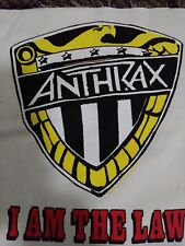Anthrax Sew On Patch - I Am Law. Rare white background large