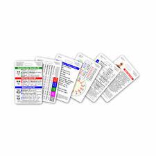 Mini EMT MRT First Responder Vertical Badge Card Set - 6 Cards - Pocket Sheet ID