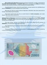 ROMANIA - 1999 Commemorative 2.000 Lei Banknote in presentation folder - UNC.