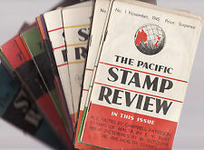 THE PACIFIC STAMP REVIEW : NEW ZEALAND PHILATELY  : 1945 - 1948 complete run fd
