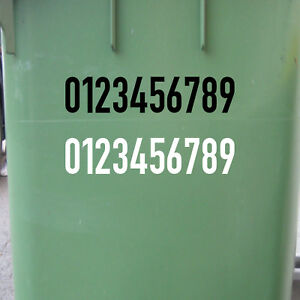 10 Sticker 1 3/16in DIN1451 House Locker Room Number House Number Tattoo