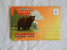 HAYNES Souvenir Folder YELLOWSTONE NATIONAL PARK - 1940'S LINEN POSTCARD FOLDER