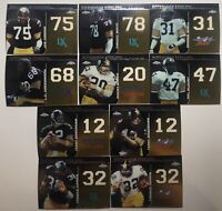 2008 Topps Chrome Pittsburgh Steelers (10) Card Lot Dynasties Complete Set