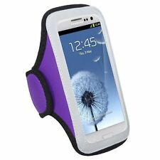 Purple Gym Jogging Universal Armband Pouch Case Dell Venue GSM Phone 3G Android