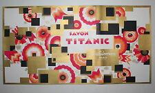 Savon Titanic original Art deco soap box label French lithograph