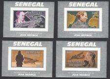 Senegal #970A-970D 1991 Aviator JEAN MERMOZ imperf proof sheets MNH (4)