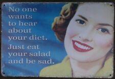 Diet poster metal tin sign vintage cafe pub motorcycle retro garage kitchen