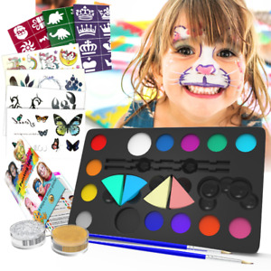 Face Paint Kids Kit Halloween Makeup Set for Boys Girls Toy Xmas Present 32pc