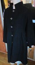 Beau manteau  chaud noir  en laine bouillie Cinoche Vintage T 2