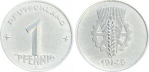 DDR 1 Pfennig 1949 E  vorzüglich-Stempelglanz