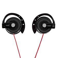 tek EARHOOK HEADPHONES Sports Running Ear Clip Gym EarHook Stereo Earphones UK