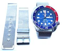 Mesh Milanese Watch Strap NO TIME TO DIE Bond for Seiko 20mm Prospex Turtle 5