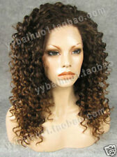 Fashion wig New Charm Women's long Brown Blonde Curly Natural Hair Ful+free gift