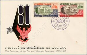 80th Anniversary of the Post & Telegraph Department -FDC(I)-I-
