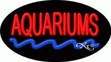 "NEW ""AQUARIUMS"" 30x17 OVAL SOLID/FLASHING REAL NEON SIGN w/CUSTOM OPTIONS 14139"