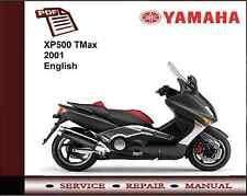 Yamaha Xp500 Xp 500 Tmax 2001 Servicio de Taller reparación Manual