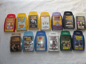 Bundle 13 Packs of Top Trumps Playing Cards COMPLETE VGC Simpsons Dogs Top-Gear