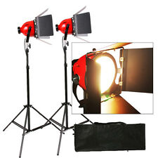 Kit 2X Tungsteno 800 W Luz De Estudio Video Cabeza Roja Pelirroja Enfoque A Tierra Pro