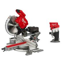 Miter Saw Dual Bevel Sliding Compound 12 In Cordless Compact Router Brushless
