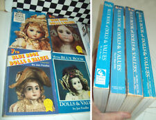 6th 7th 8th and 9th BLUE BOOK DOLLS & VALUES Jan Foulke Good Used Condition~~~