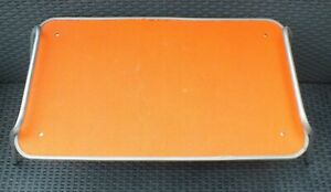 Vintage Orange Retro Folding Lap Bed Breakfast Tray Table Camper Van VW