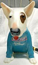 1987 Spuds Mackenzie Dog Bud Light Beer Blow Mold Sign Bar Display Vintage