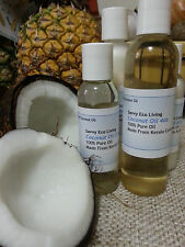 100% Pure Golden Extra Virgin Coconut Oil 2oz Amazing Coconut Aroma Cold Pressed