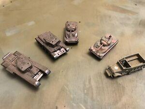 roco minitanks 1/87 WW2 British Tanks Large Lot