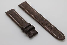 Bracelet/Band Crocodile 18/16mm Marron pour montre boucle ardillon BREITLING