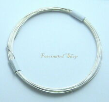 925 Sterling Silver 26 Ga. Round Beading Wrapping Wire Soft 10ft New U.S.A.