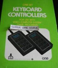 NEW IN BOX  RARE* 1978 ATARI 2600 GAME SET KEYBOARD CONTROLLERS CX-50 PAIR NIB