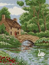 Anchor MR78101 Riverside Cottage Kit Per Ricamo 1/2 punto croce su tela